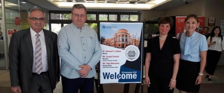 莫斯科国立师范大学代表团访问台湾的工作仍在继续