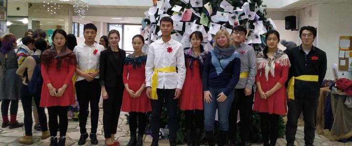 2018年12月27日,在莫斯科国立师范大学人文教学楼举办了预课生新年晚会。