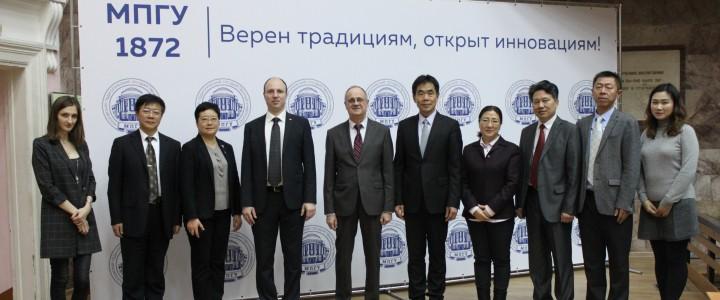 南京师范大学代表团访问了莫斯科国立师范大学